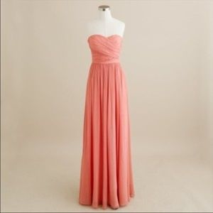 ✨HP✨ J Crew Formal Strapless Coral Arabelle Gown